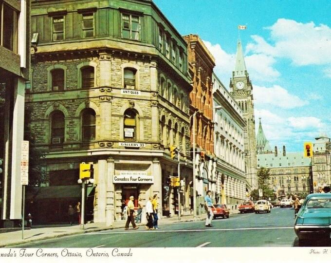 Vintage Postcard, 1970s Canada's Four Corners Ottawa Ontario