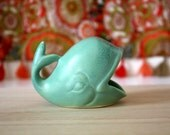 Whale Ring Dish - Handmade Whale Jewelry Holder in Turquoise - Midcentury Modern Style - Mid Mod Decor- Engagement Gift- Wedding Shower Gift