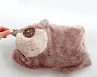 Pajama eater Bear, pillow, pajama bag, pj eater