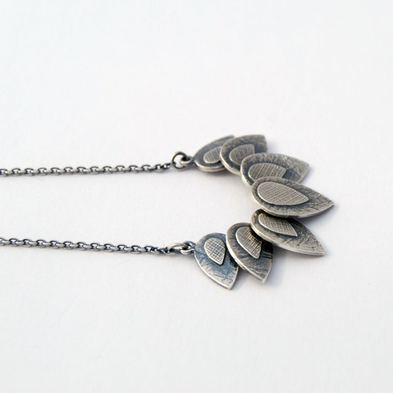 7 petals necklace - sterling silver necklace