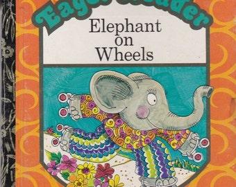 ON SALE Elephant On Wheels - Vintage Little Golden Book - Australian Edition - 1970s - Childrens Book