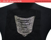 SALE Silver Beaded Pocket for Fashion Crafts