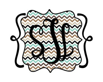 Scallop Scroll Frame Applique Embroidery Design READY TO SEW