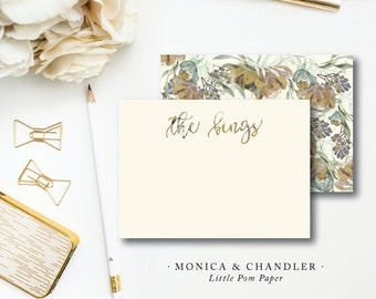 Flat A2 Stationery Notes with Blank Envelopes | Monica and Chandler Stationery | Printed by Darby Cards Collective