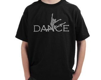 Boy's T-shirt - Dancer Created Out of Popular Styles of Dance