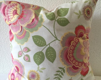 SALE**Single Pillow Cover 18x18 inch - P/Kaufmann Floral Home Decor Fabric
