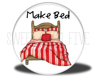 Make Bed - Chore Magnet