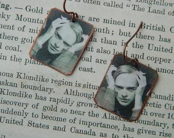 Truman Capote earrings mixed media jewelry