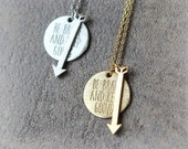 Be Brave & Keep Going Necklace