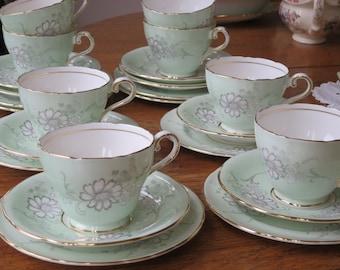 Aynsley vintage china tea cup trio