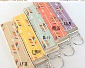 BACK 2 SCHOOL SALE Arrow Key Fob - Teacher Gift - Arrow Fabric - Fabric Wristilet