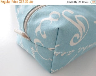 CHRISTMAS In JULY SALE Make up Bag  - Cosmetic Pouch -  Lunch Bag - Wet Bag -Waterproof Bag