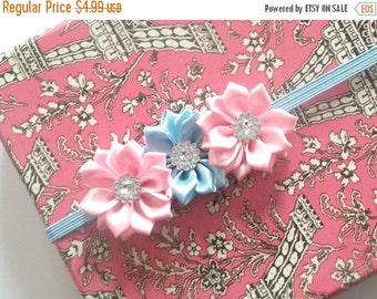 CHRISTMAS In JULY SALE Baby Flower Headband - Small Flower Headband - Baby Photo Prop