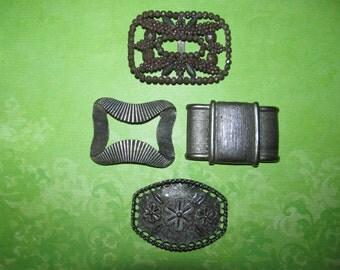 Vintage Destash Rhinestone Jewelry Craft Lot Shoe Buckles