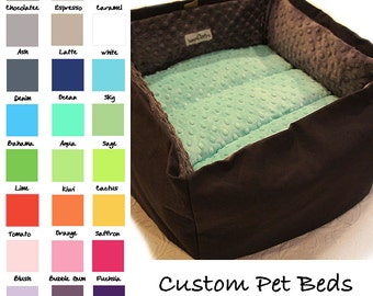 Travel Pet Bed, CUSTOM 32 Color Choice, 16 In Square Medium,  Slip-proof Base, Dog, Cat, Collapsible, Washable, Couture, Artistic