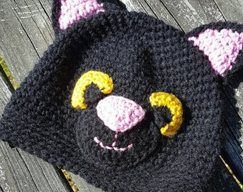 Crochet hat, Cat Beanie, made to order