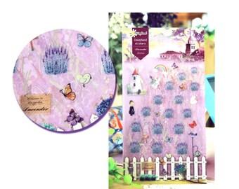 Diary Scrapbook Daisyland Sticker Label Lavender