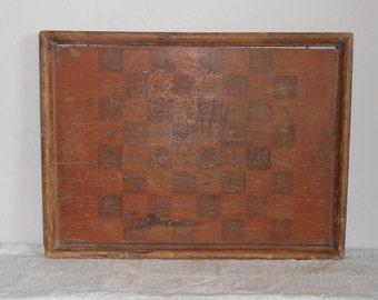 Antique Primitive Game Board