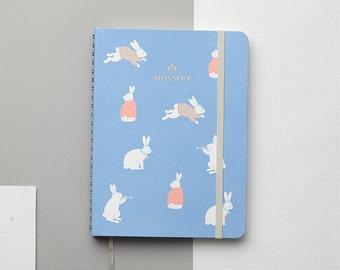 SALE Bunny Blue 2016 Half-Year (Jul–Dec) Gold Foil Personalized Planner