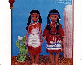 Princess Little Fawn Collectable Native Amerian Crochet Series Pattern TD-869