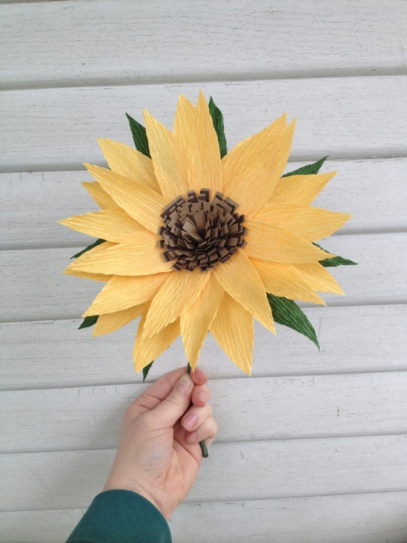Sunflower Crepe Paper Flower Home Decor Wedding Flowers
