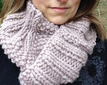 Items similar to Vashon Cowl - soft wave cabled sport weight alpaca cowl Knit...