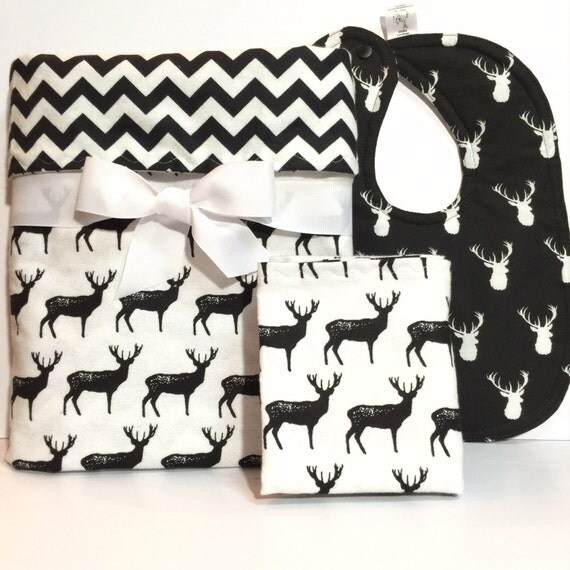 New Baby Gift Set Baby Boy Blanket Flannel By Beastiesbabies