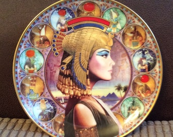 Display Plate, The Glory of Cleopatra by Andrew Farley, Art, Vintage Collectible SUMMER SALE
