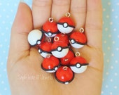 Pokeball Charm/ Key Chain/ Cellphone/Necklace/or Earrings
