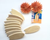 """Mini Surfboard Beach Party Favors - 3.75"""" swallow tail craft surfboards   - Set of 10"""