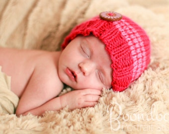 Pink kids winter hat baby girl beanie for kids christmas