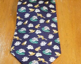 Vintage Burberrys Frog Silk Tie