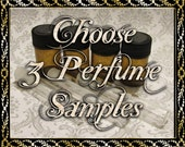 Perfume Oil Samples: Choose Three (3) 1mL or 2mL Samples, Perfume Oil, Cologne Oils, Apothecary Fragrance, Ships Out in 6-9 Days