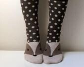 Boot Socks Women Socks Leg Warmer Christmas Socks Boot Socks Fox Socks Ladies Casual Cotton Socks Ankle Socks