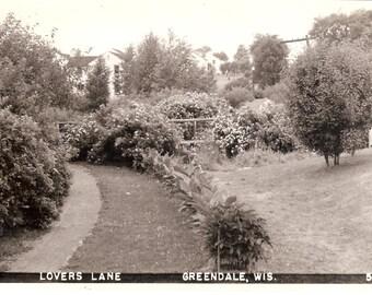 Vintage Photo Postcard....Wisconsin, Lovers Lane, Greendale...Unused, no. 1732