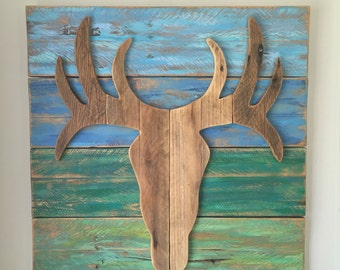 Deer - Wall Decor made from Reclaimed Wood