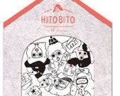 Cute Japanese sticker flake sack, GIRLS Sticker, kawaii Scrapbooking material, sticker sacks- 48 pieces (1 pack) - 1448