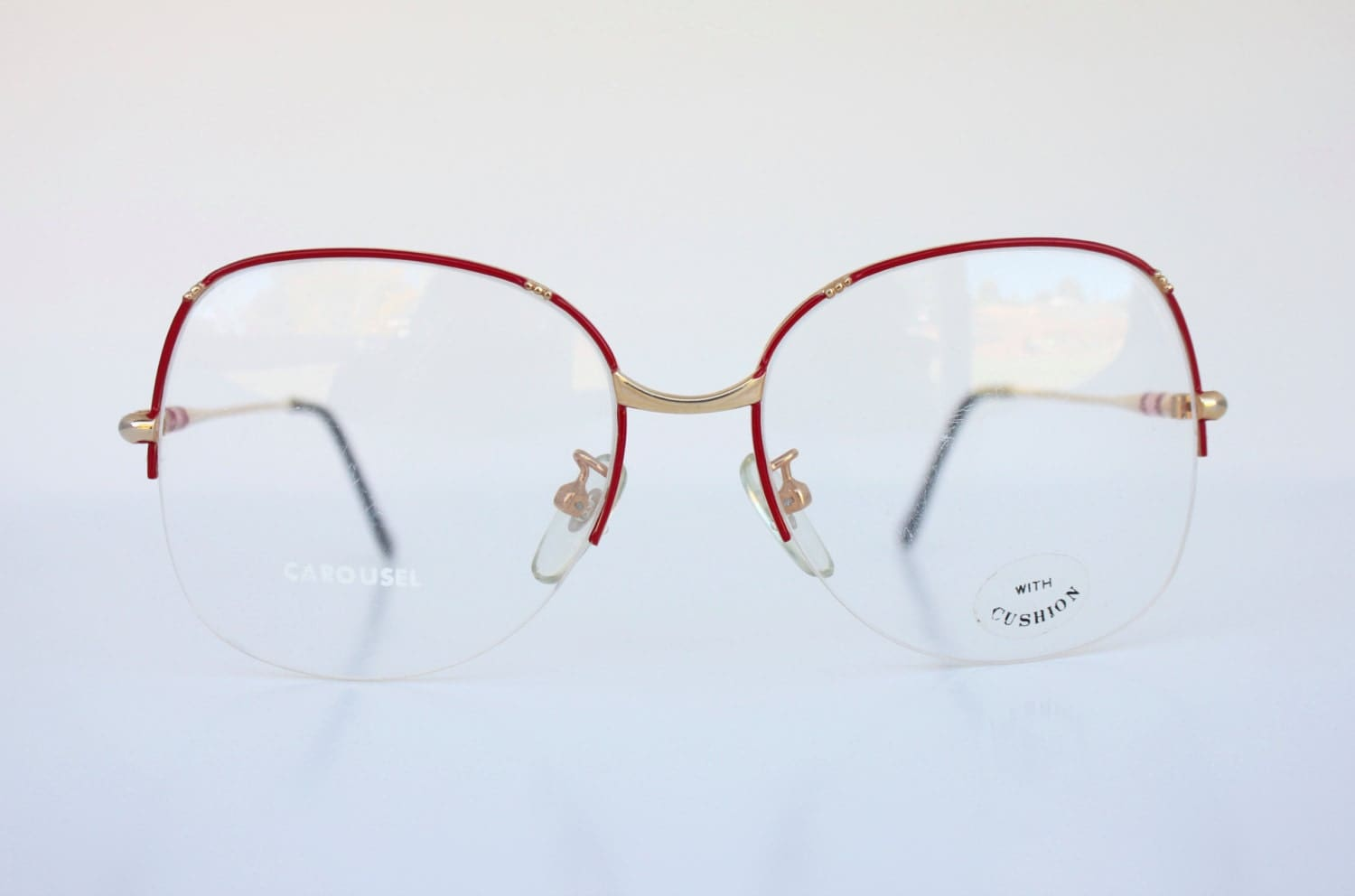 vintage red rimless wire eyeglass frames - Wire Eyeglass Frames