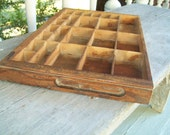 Vintage Printers Drawer Miniature's Shelf Small Shelf Stamped 1926