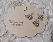 Mommy To Bee Tags set of 10 Baby Shower Baby Gift