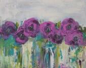Wild Purple Original Painting by Kelly Berkey 18x18