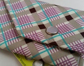 Birth Control Case with Snap Closure- Pretty Plaid