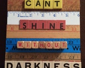 Stars Can't Shine Without Darkness Upcycled Wall Hanging Measured Musings