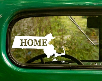 Massachusetts Decal, Car Decal, State Sticker, Laptop Sticker, Massachusetts Sticker, Bumper sticker, Vinyl Decal, Car Stickers