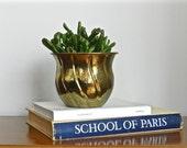 Vintage Brass Planter Succulent Pot Small Indoor Planter Rustic Boho Chic Decor