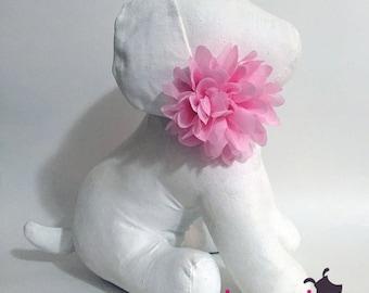 Light Pink Chiffon Flower Collar Accessory