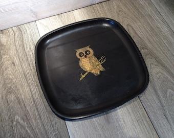 Owl Tray Couroc of Monterey