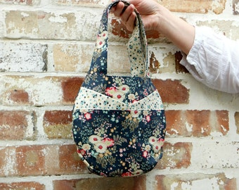 Small Round Bag PDF Pattern Digital Sewing Pattern Fat Quarter Bag Purse Handbag