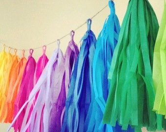 Balloon Tassel - Garland Tassel Paper Tassel Balloons DIY Tassels 13 Color Available ( Wedding Birthday Party Anniversary Decoration Favor )