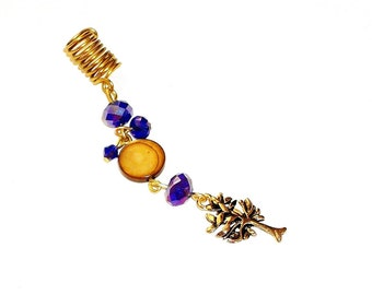 Dreadlock Jewelry - Antique Gold Tree Charm Loc Jewel (SEE NOTE & TIP in Description)